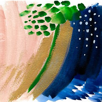 Colorful Watercolor Abstract Painting by MyArt23