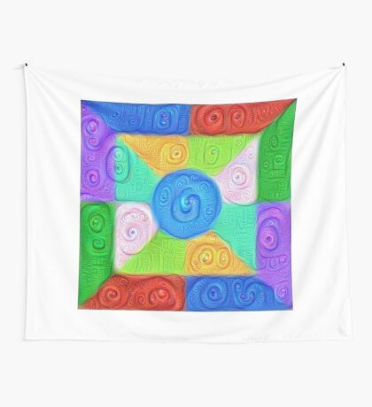 DeepDream Color Squares Visual Areas 5x5K v17 Wall Tapestry