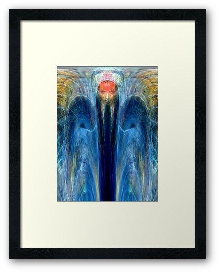Angel of blue healing light by Bill Brouard