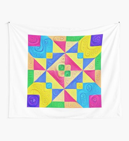 #DeepDream Color Squares Visual Areas 5x5K v1448168644 Wall Tapestry