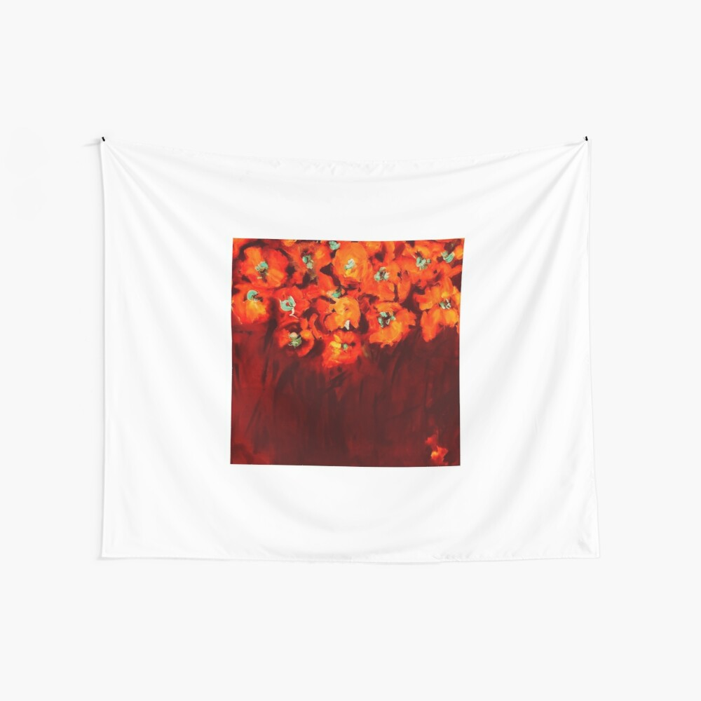 Habibiflo orange Wall Tapestry