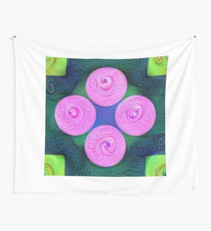 #DeepDream Color Squares Circles Visual Areas 5x5K v1448204645 Wall Tapestry
