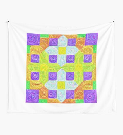 #DeepDream Color Squares Visual Areas 5x5K v1448291932 Wall Tapestry