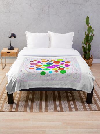 #DeepDream Color Circles Visual Areas 5x5K v1448374069 Throw Blanket