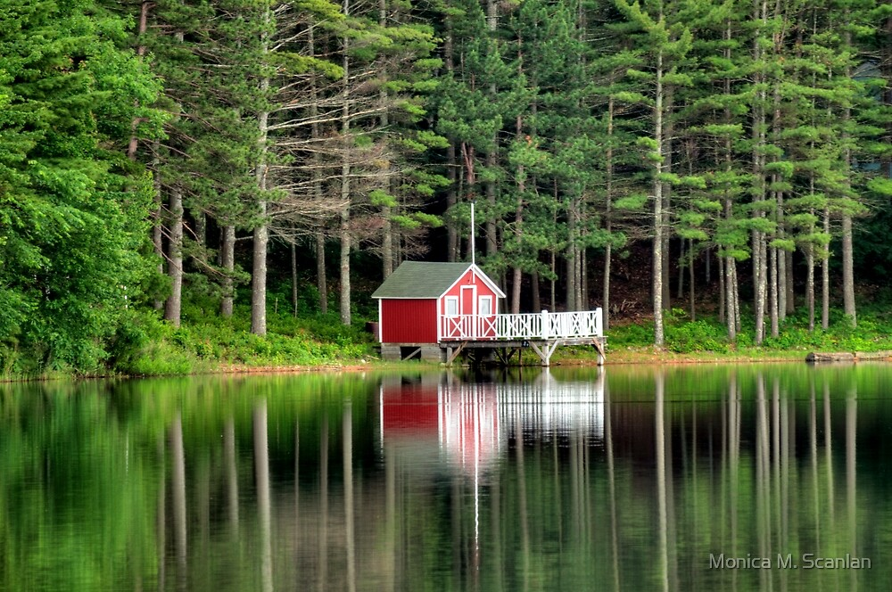 Boathouse on the Lake by Monica M. Scanlan