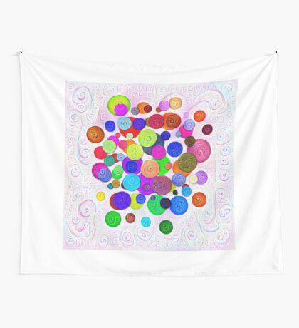 #DeepDream Color Circles Visual Areas 5x5K v1448388480 Wall Tapestry