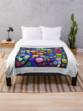 #DeepDream Color Circles Visual Areas 5x5K v1448448724 Throw Blanket