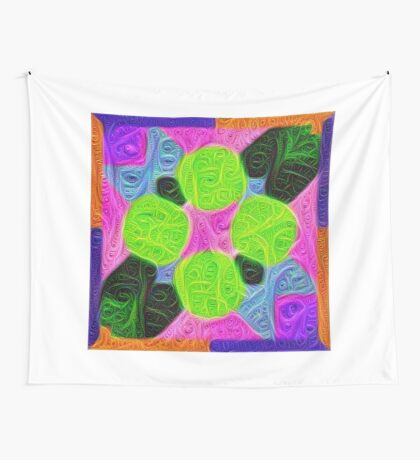 #DeepDream Color Squares Visual Areas 5x5K v1448212784 Wall Tapestry