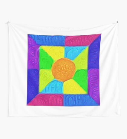 DeepDream Color Squares Visual Areas 5x5K v19 Wall Tapestry