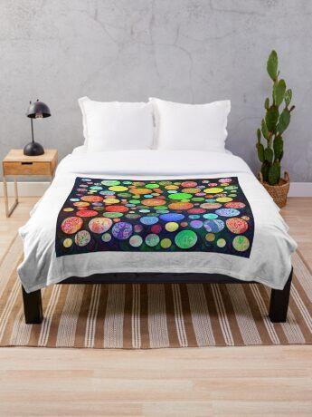 #DeepDream Color Squares Circles Visual Areas 5x5K v1448464170 Throw Blanket