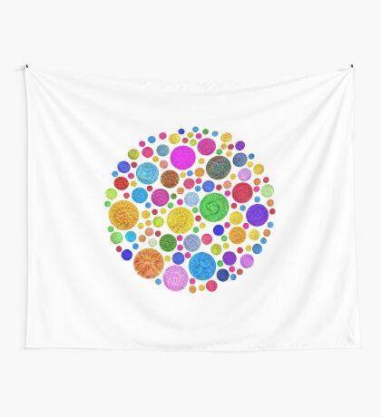 #DeepDream Color Circles Visual Areas 4x4K v1448872458 Wall Tapestry
