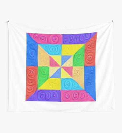 DeepDream Color Squares Visual Areas 5x5K v1448115896 Wall Tapestry