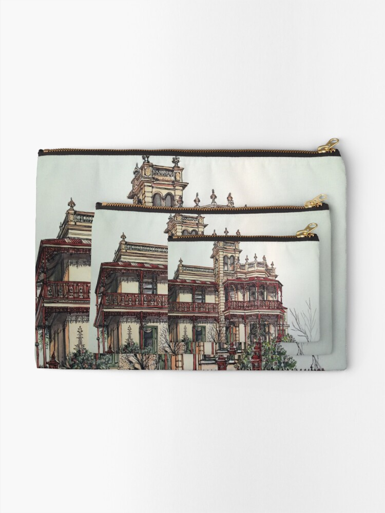 Alternate view of Phryne Fisher's house 'Wardlow'©.  Zipper Pouch