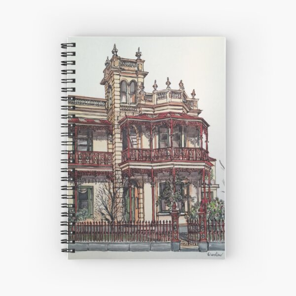 Phryne Fisher's house 'Wardlow'©.  Spiral Notebook
