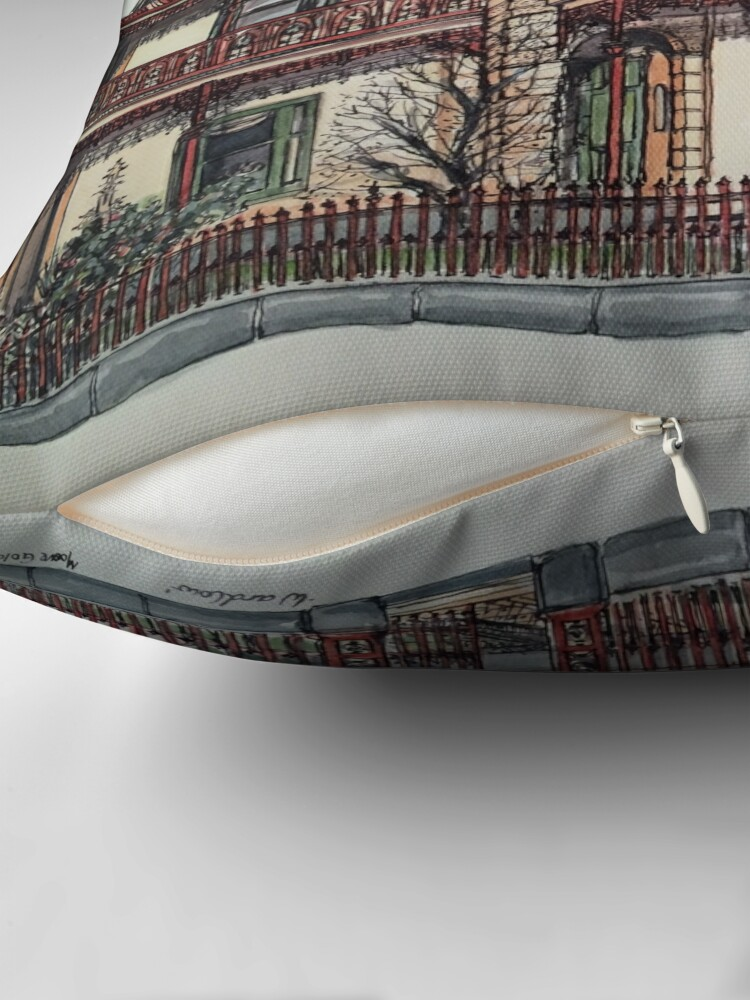 Alternate view of Phryne Fisher's house 'Wardlow'©.  Throw Pillow