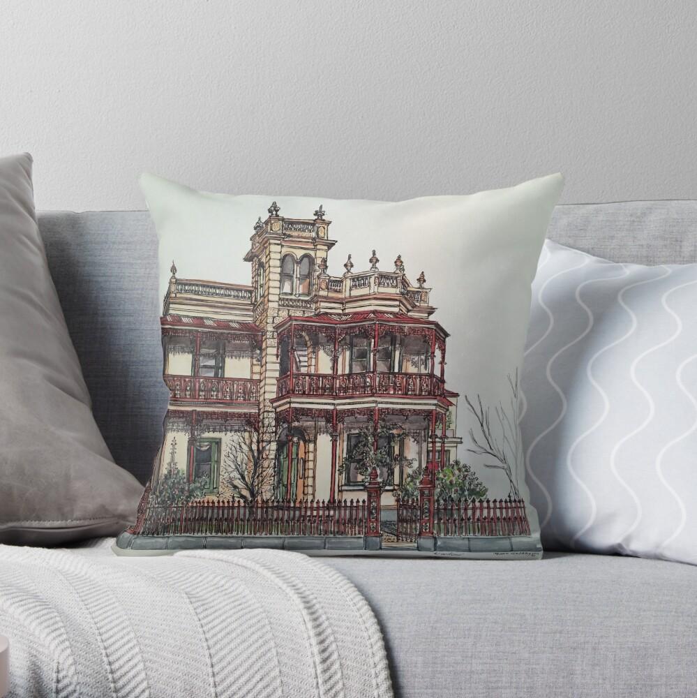 Phryne Fisher's house 'Wardlow'©.  Throw Pillow