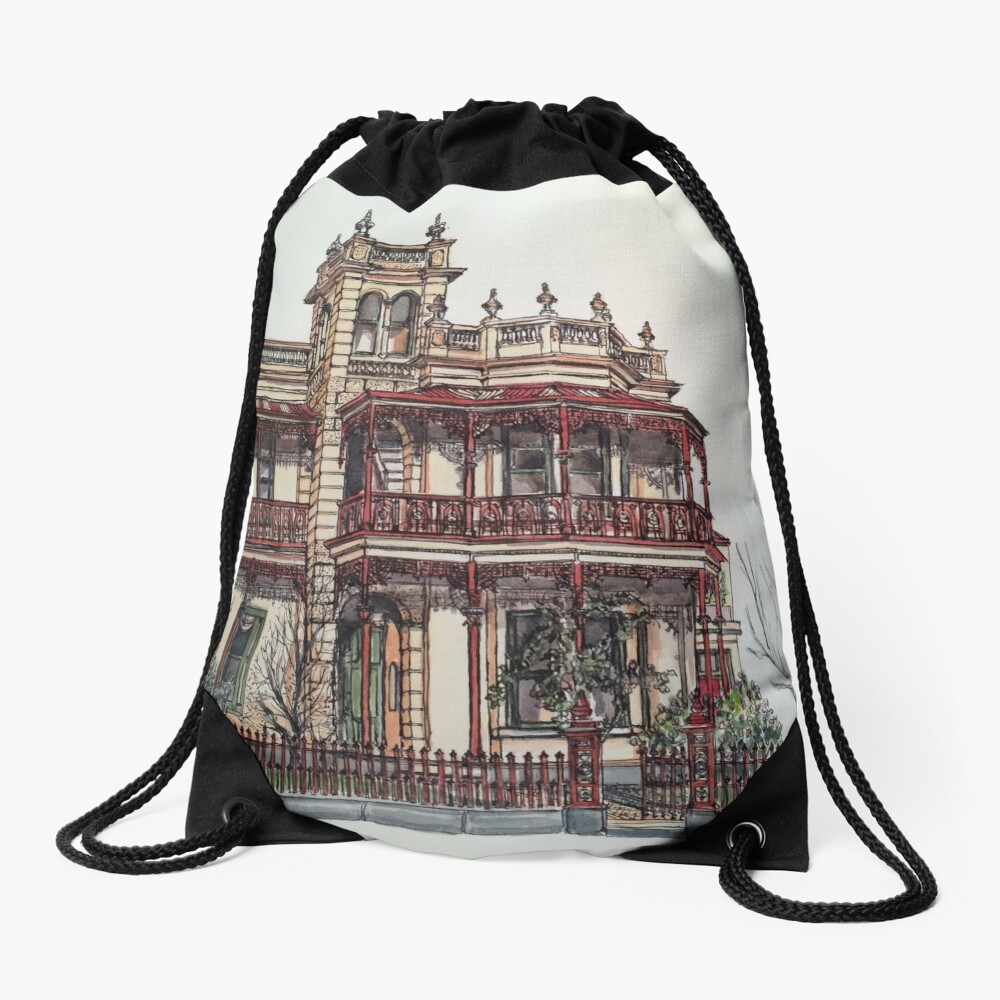 Phryne Fisher's house 'Wardlow'©.  Drawstring Bag