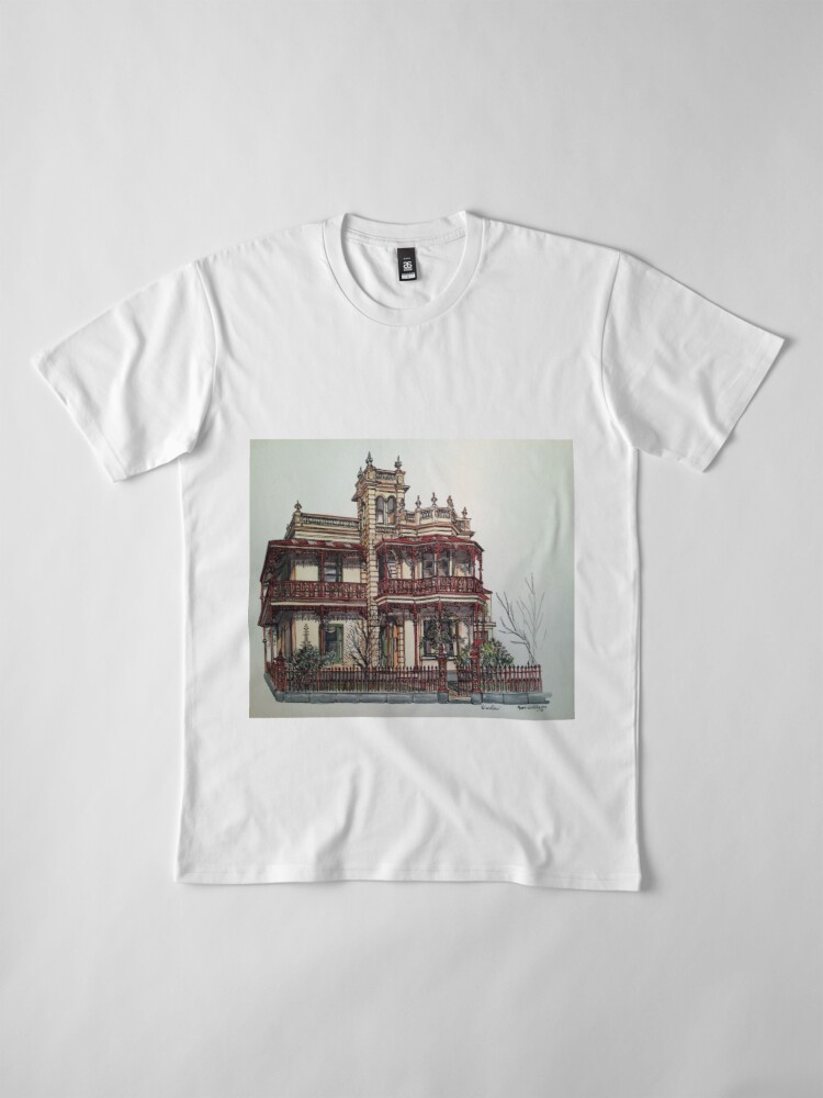 Alternate view of Phryne Fisher's house 'Wardlow'©.  Premium T-Shirt