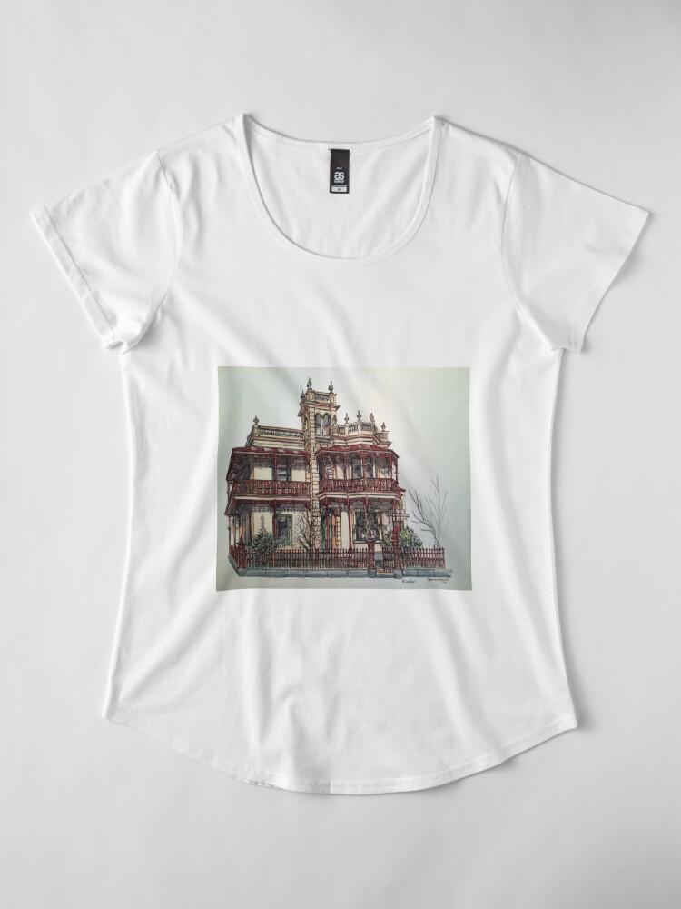 Alternate view of Phryne Fisher's house 'Wardlow'©.  Premium Scoop T-Shirt