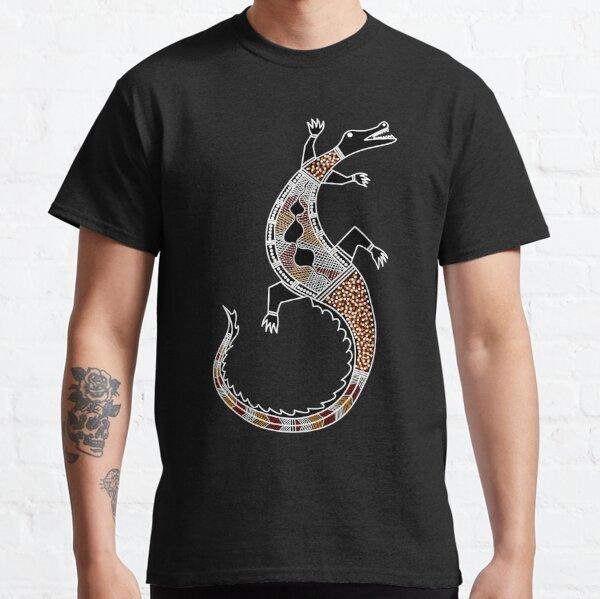 Authentic Aboriginal Art - Crocodile Authentic Designs Classic T-Shirt