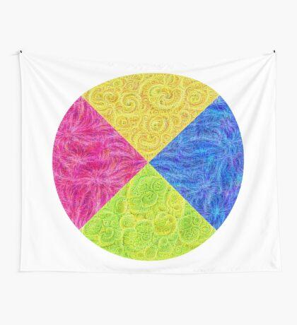 #DeepDream Color Circle Visual Areas 6x6K v1448932478 Wall Tapestry