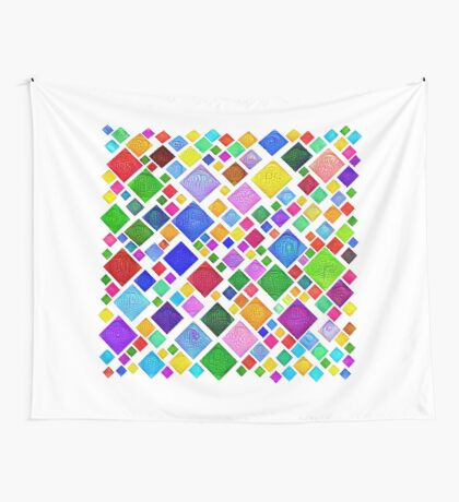 #DeepDream Color Squares Visual Areas 5x5K v1448787318 Transparent background Wall Tapestry