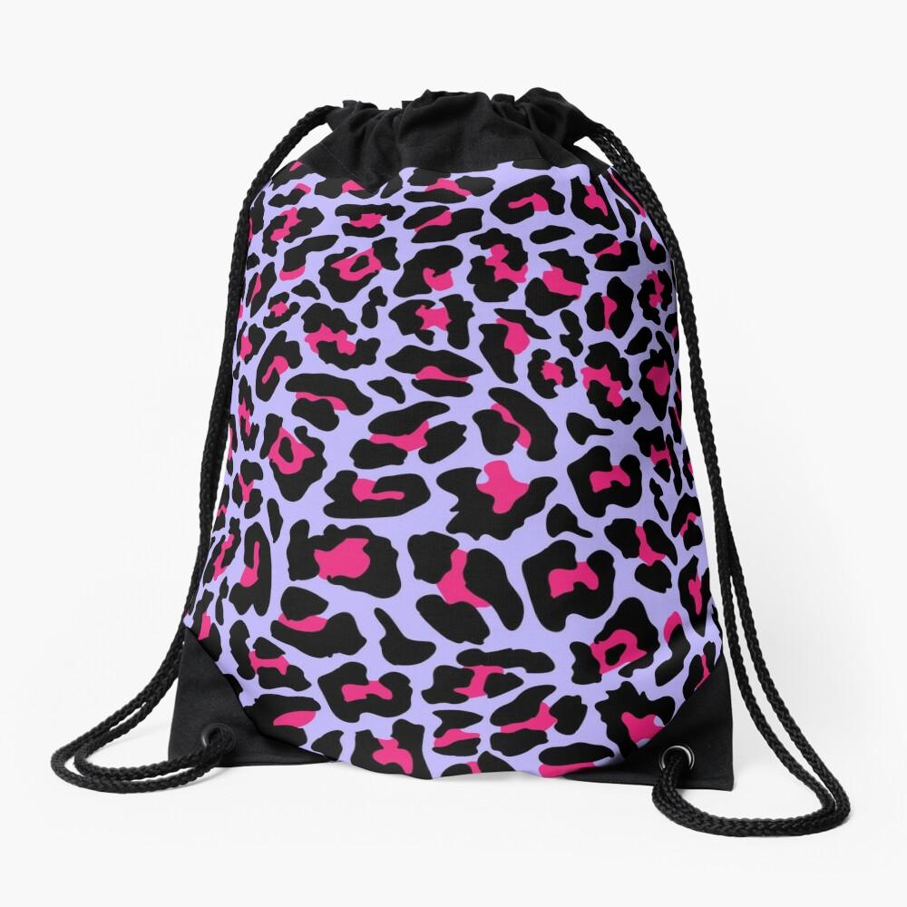 Neonpard Drawstring Bag