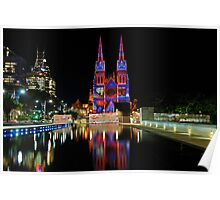 Vivid Sydney 2010   St. Mary's Cathedral 3 Poster