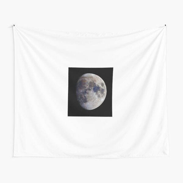 Gibbous Moon in saturated colour Tapestry