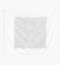 Carreaux - Blue Wall Tapestry