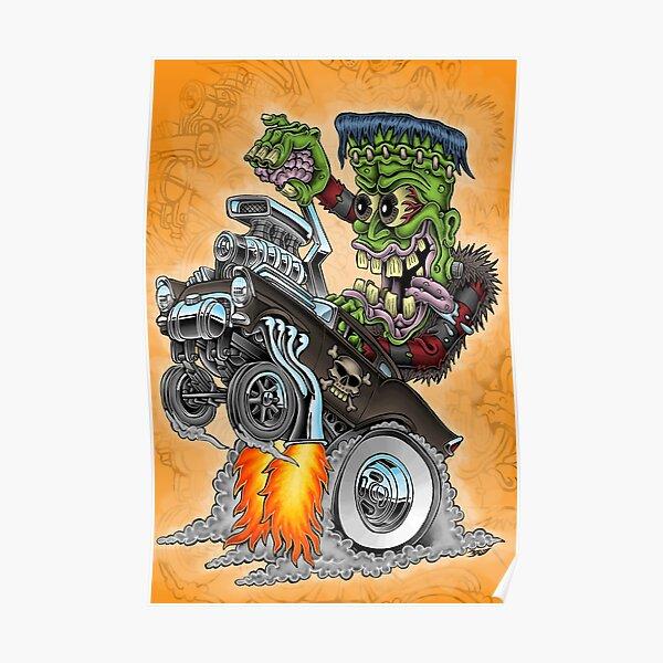 Frankenstein-Wheelie Poster