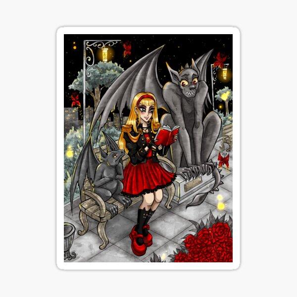 Girl with Gargoyles Sticker