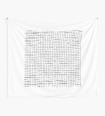 Carreaux - Yellow Wall Tapestry
