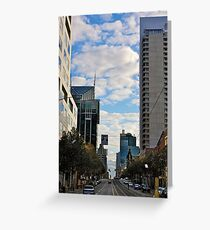 Streetscape in Melbourne Greeting Card