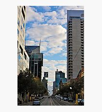 Streetscape in Melbourne Photographic Print