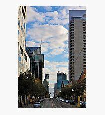 Streetscape in Melbourne Photographic Print