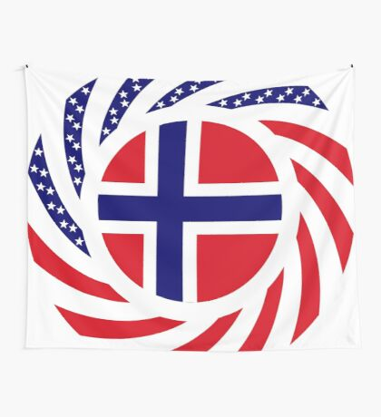 Norwegian American Multinational Patriot Flag Series 1.0 Wall Tapestry