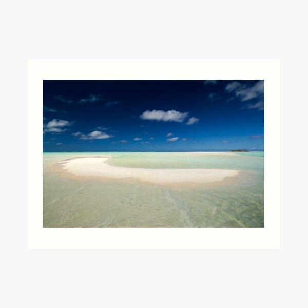 The Beach - Aitutaki Art Print