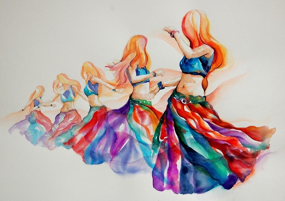 belly dancer in motion by gerardo segismundo