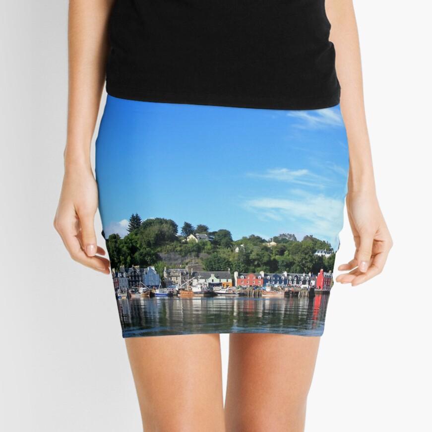 Blue Sky in Balamory Mini Skirt