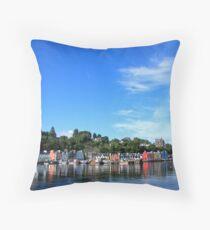 Blue Sky in Balamory Throw Pillow