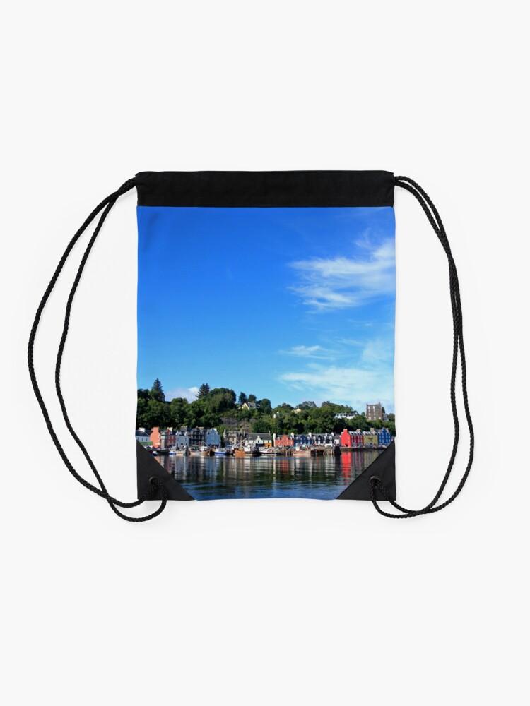 Alternate view of Blue Sky in Balamory Drawstring Bag