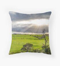Shining at greens Throw Pillow