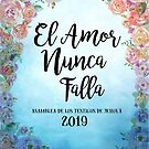 "Spanish ""Love Never Fails""! 2019 Regional Convention of Jehovah's Witnesses (Floral Blue) by JW Stuff"