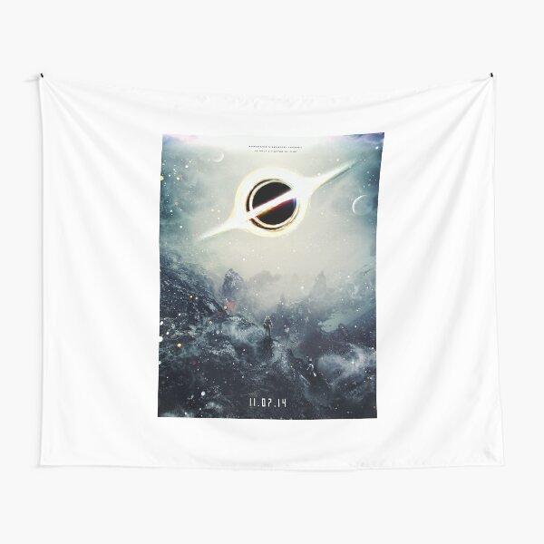 Black Hole Fictional Teaser Movie Poster Design Tapestry