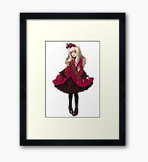 Red Classic Gothic Lolita Framed Print
