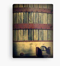 Antique Wine Press Metal Print