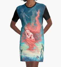 Vestido camiseta Coral vivo