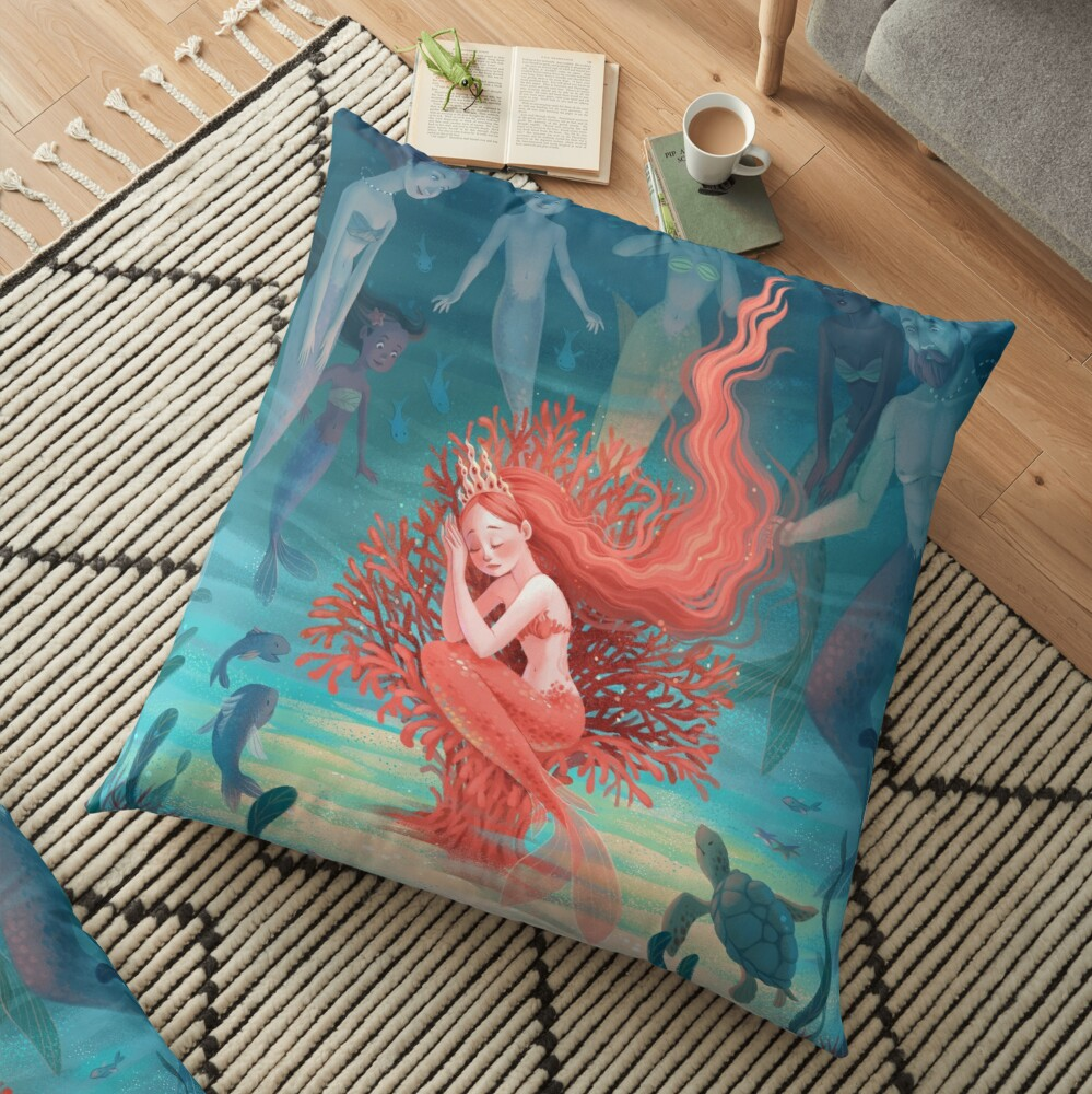 Living Coral Floor Pillow