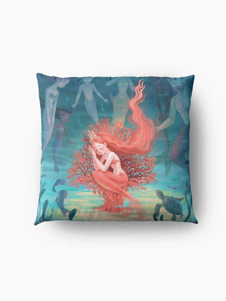 Alternate view of Living Coral Floor Pillow
